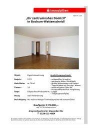 """""""Ihr zentrumnahes Domizil"""" in Bochum-Wattenscheid!"""
