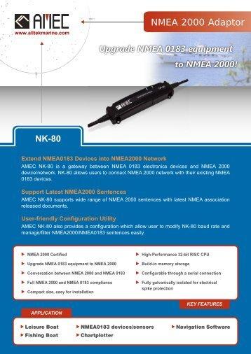 NK-80 product brochure - Alltek Marine