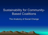 Sustainability for Community-Based Coalitions