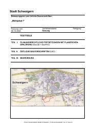 Bebauungsplan Textteil und Begründung - Stadt Schwaigern