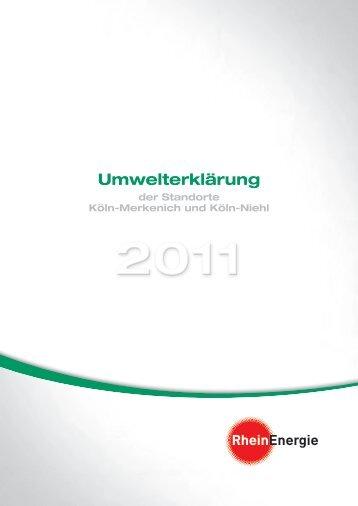 Umwelterklärung der Standorte Köln-Merkenich ... - RheinEnergie AG