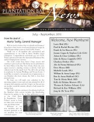 Welcome, New Members! - Plantation Bay - Golf & Country Club