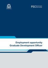 Graduate Development Officer - Applicant information pack