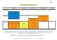 Kursprogramm Herbst 2012 - CITY MED. München Gmbh