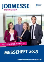 Download Messeheft 2013 - Study and Stay - Universität Würzburg