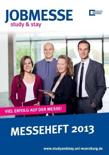 Download Messeheft 2013 - Study and Stay - Universität Würzburg
