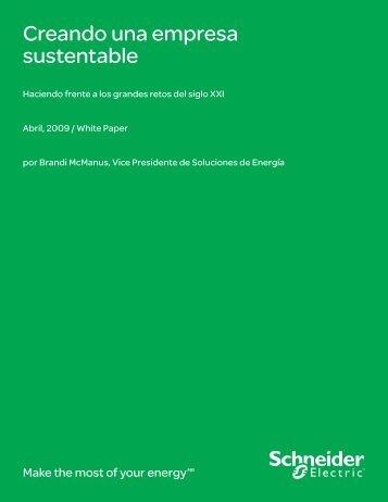 Creando una empresa sustentable - Schneider Electric