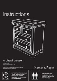Orchard Dresser instructions - Mamas & Papas