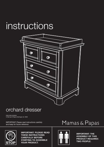 mamas and papas orchard cot bed instructions