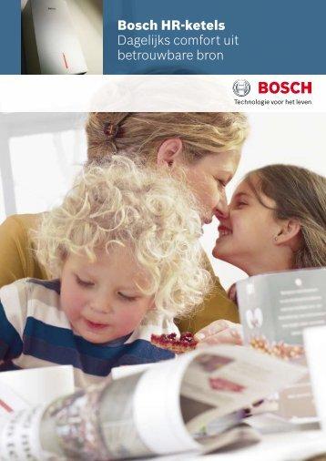 Bosch HR-ketels Dagelijks comfort uit betrouwbare bron