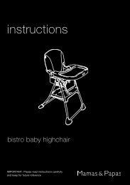 Bistro Baby Highchair - Mamas & Papas