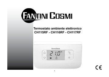 Istruzioni c32 fantini cosmi for Istruzioni termostato fantini cosmi