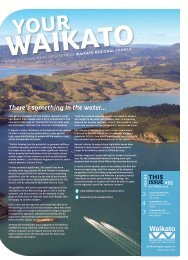 there's something in the water... - Waikato Regional Council