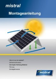 Montage-Anleitung (pdf, 4 MB) - mistral solar applications