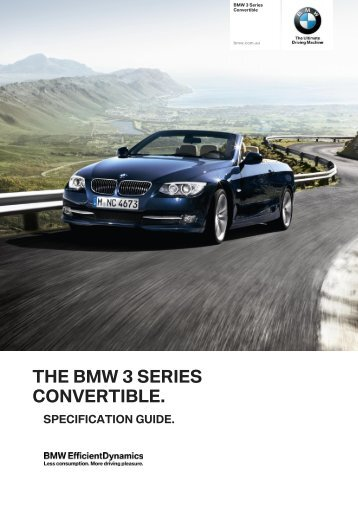 The bmw 3 series convertible.