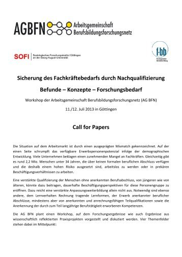Call for Papers - SOFI