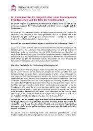 Interview mit Peter Kostelka - Friedensburg Schlaining