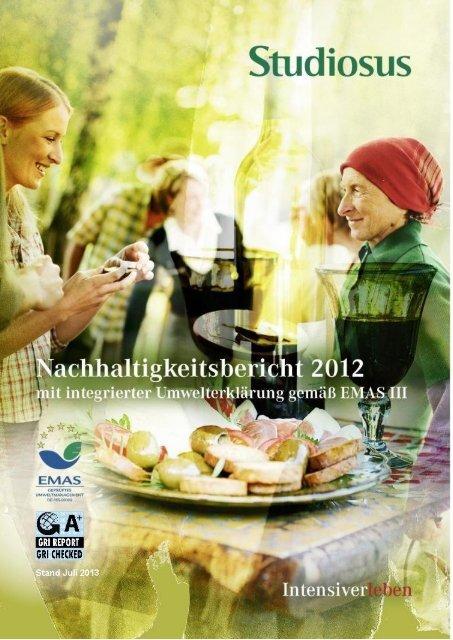 Nachhaltigkeitsbericht 2012 - Studiosus Reisen München GmbH