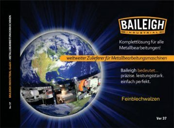 Feinblechwalzen - Baileigh Industrial