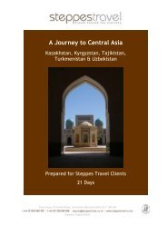 A Journey to Central Asia - Steppes Travel