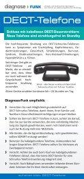 DECT-Telefone - Diagnose Funk