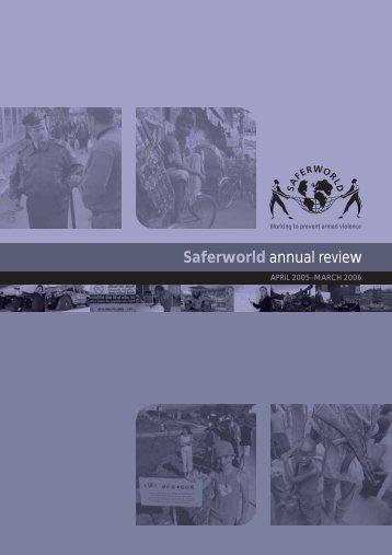 Annual Review pdf - Saferworld