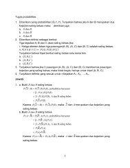 1 Tugas probabilitas 1. Diberikan ruang probabilitas ... - Blog Staff UI