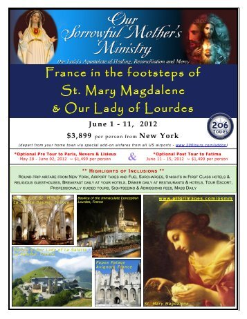 France in the footsteps of St. Mary Magdalene & Our ... - 206 Tours