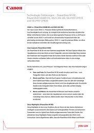 Technologie-Erklärungen – PowerShot N100, PowerShot ... - Canon