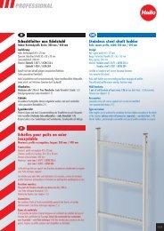 Schachtleiter aus Edelstahl Stainless steel shaft ... - PRO-tikkaat
