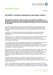 23-Mar-12 Alliance+ expands on Fyn by acquiring ... - Polarisequity.dk