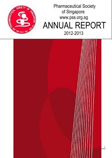ANNUAL REPORT - Pharmaceutical Society of Singapore