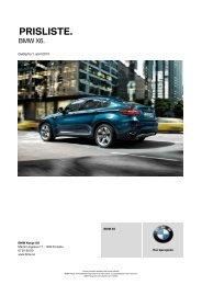 Last ned Gyldig prisliste for BMW X6 (PDF, 396k).