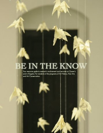 Be in the Know Resource Guide (5.6 MB PDF) - Queen's University