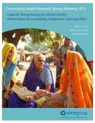 Program Booklet - CORE Group