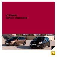 ACCESSOIRES SCEnIC ET gRAnd SCEnIC - Renault