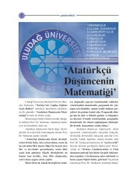 Atatürkçü Düşüncenin Matematiği (Prof. Dr. Mustafa Yurtkuran)