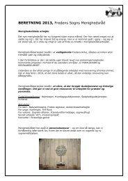 læs menighedsrådets beretning 2013 - Fredens Kirke Herning