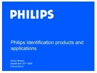 Philips Identification products and applications - forums OCOVA
