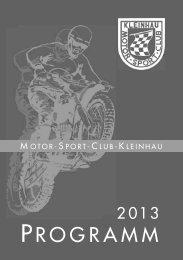PRO G R A M M - Motorsport Club Kleinhau