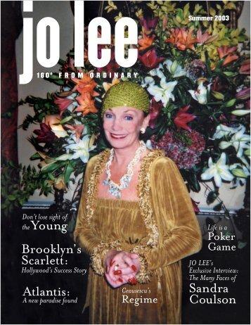 Sandra Coulson Atlantis: Brooklyn's Scarlett ... - JO LEE Magazine