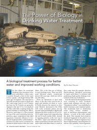 The Power of Biology in - Safe Drinking Water Foundation