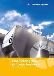 Empowering your air cargo business - Advancedcargo Platform