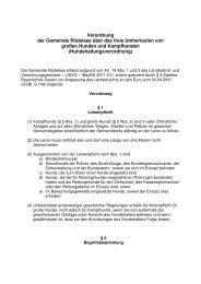 Verordnung der Gemeinde Rödelsee über das freie Umherlaufen ...