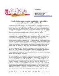 Click Here-PDF - St. Cecilia Academy