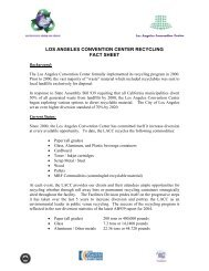LOS ANGELES CONVENTION CENTER RECYCLING FACT SHEET