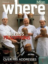 TIMELESS TRADITIONS - Where Milan