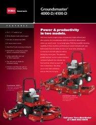 Groundsmaster® 4000-D/4100-D