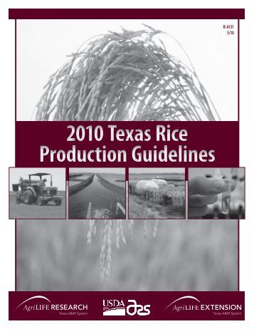 2010 Texas Rice Production Guidelines - Texas A&M AgriLIFE ...
