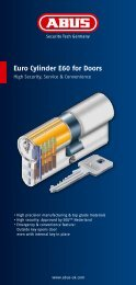 ust. wide Euro Cylinder E60 for Doors - Abus